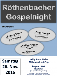 Plakat Gospelnight